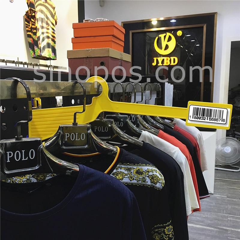 garment rack warehouse divider hangers stockroom clothes apparel hangrail coat hanger barcode label location large size marker