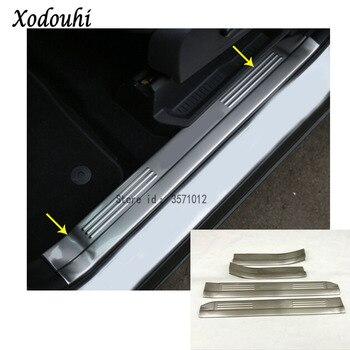 Hot for Ford Kuga 2013 2014 2015 2016 car Cover Detector Stick Trims Door Inner threshold pedal Lamp Frame 4pcs