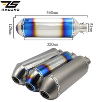 ZS Racing Stainless Steel Universal Akrapovic Motorcycle Modified Exhaust Color Muffler Pipe CB400/600 CBR Z750 Z1000 GSXR R1 R6