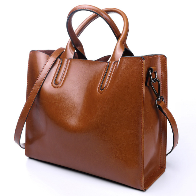100% Genuine Leather Bags Women's Bucket Famous Brand Designer Handbags High Quality Tote Shoulder Messenger Bags Dollar Price