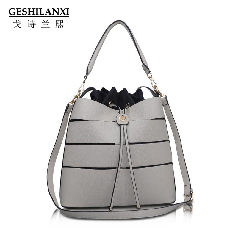 GESHILANXI Women Handbag High Quality Famous Designer Brand PU Leather Casual Totes shoulder Bags Crossbody Bags Bucket bags new 2016 famous brand women backpacks designer high quality pu leather backpack casual women shoulder bags hot sell crossbody