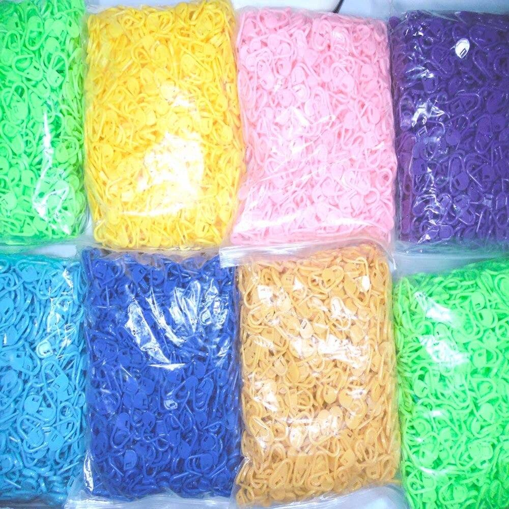 Commercio All'ingrosso 4000 Pz Di Lavoro A Maglia Ago Gancio Di Plastica Stitch Titolari Lavorato A Maglia Crochet Chiusura Stitch Markers Crochet Fermo Needle-7302