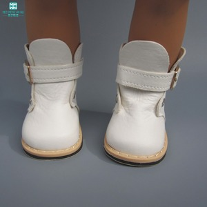 7.5cm White leather boots for