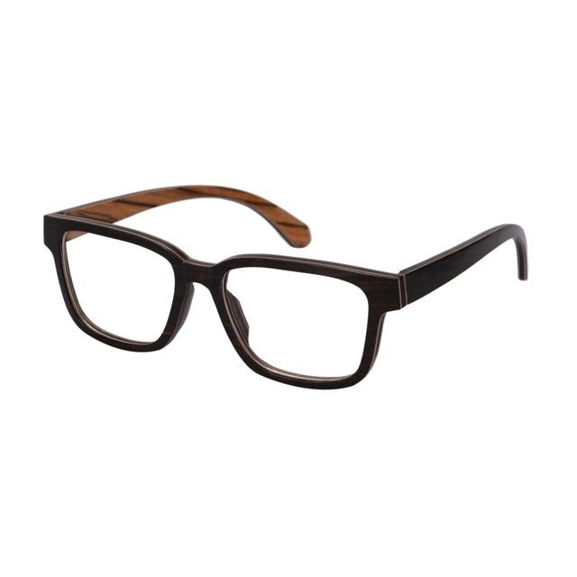 2016 novos homens óculos de madeira frame ótico novo design olho míope óculos frete grátis 138