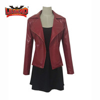 Avengers Age of Ultron Movie Scarlet Witch Cosplay Costume Wanda Django Maximoff red outfit