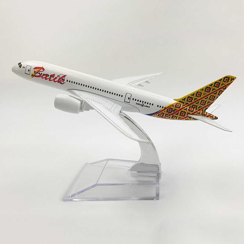 16 см 1:400 Boeing B787 модель индонезийский батик авиалиний с базой Airbus металлический
