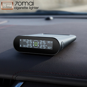Image 2 - Sistema de supervisión de presión de neumáticos 70mai Smart Car TPMS, sistema de alarma de seguridad para coche con carga USB Dual, sensor tpms