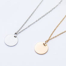New fashion Gold Silver Round Circle Pendant Necklace for Women Jewelry Elegant Chain choker necklace Collar Mujer Girl Gift(China)