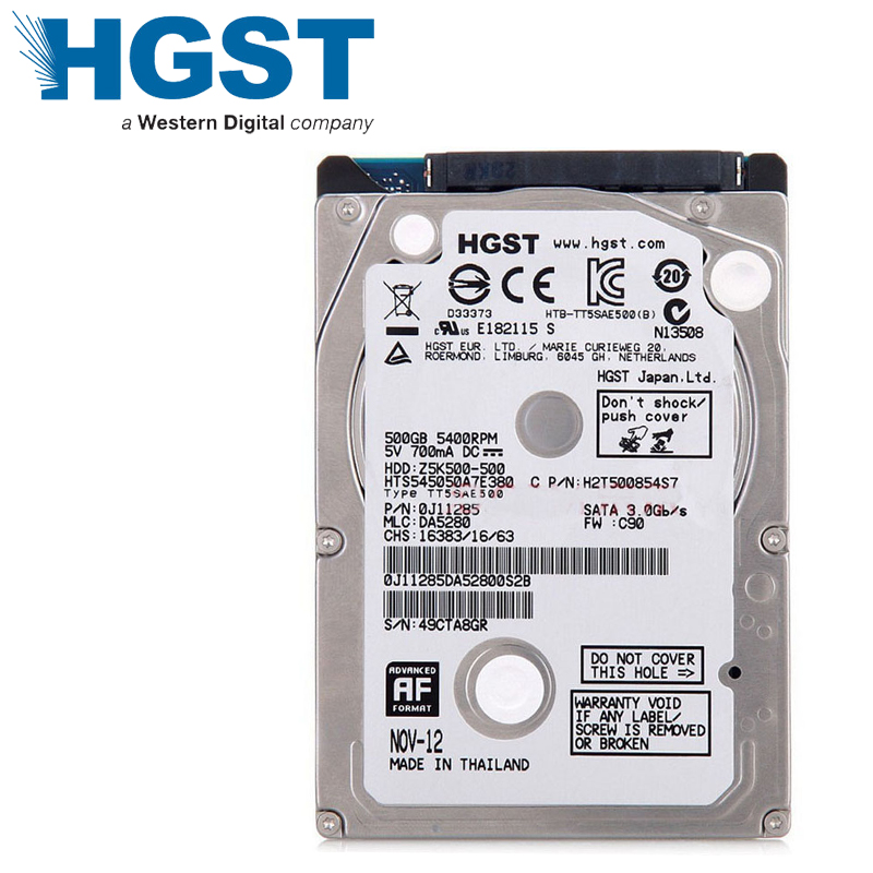 Laptop Notebook 500GB HDD Hard Drive Disk HGST 500G 25
