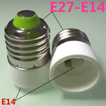 100pc New Type E27 to E14 LED Socket adapter lamp base holder Free Shipping With Track No