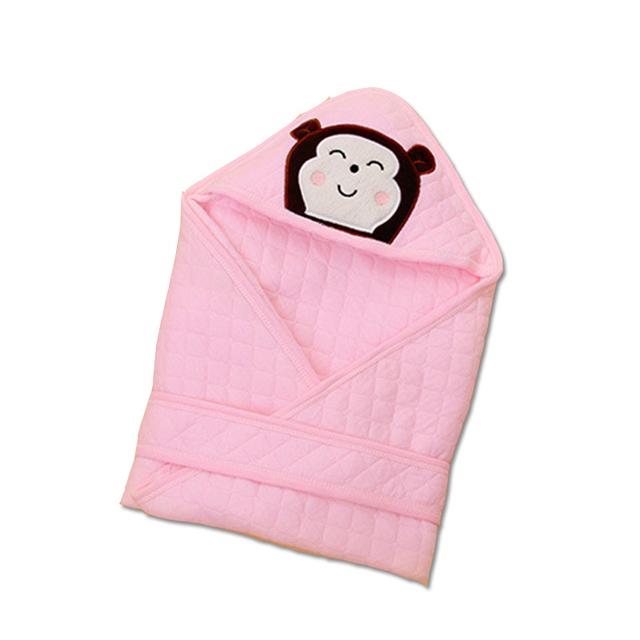 Bonito E Confortável Do Bebê Envoltório Swaddle 100% Algodão para Os Recém-nascidos a Primavera/Verão/Outono/Inverno Panos Cobertor Macio Dos Desenhos Animados
