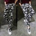 No outono de calças ocasionais dos homens edição han juventude camuflagem calças pés atados convergente haroun calças de estudantes do sexo masculino longo calças