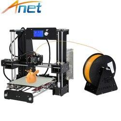 Barato Anet A6 A8 3D Impresora fácil de montar alta precisión Reprap Prusa i3 3D Kit de impresora DIY con PLA 10m filamentos 3D Drucker