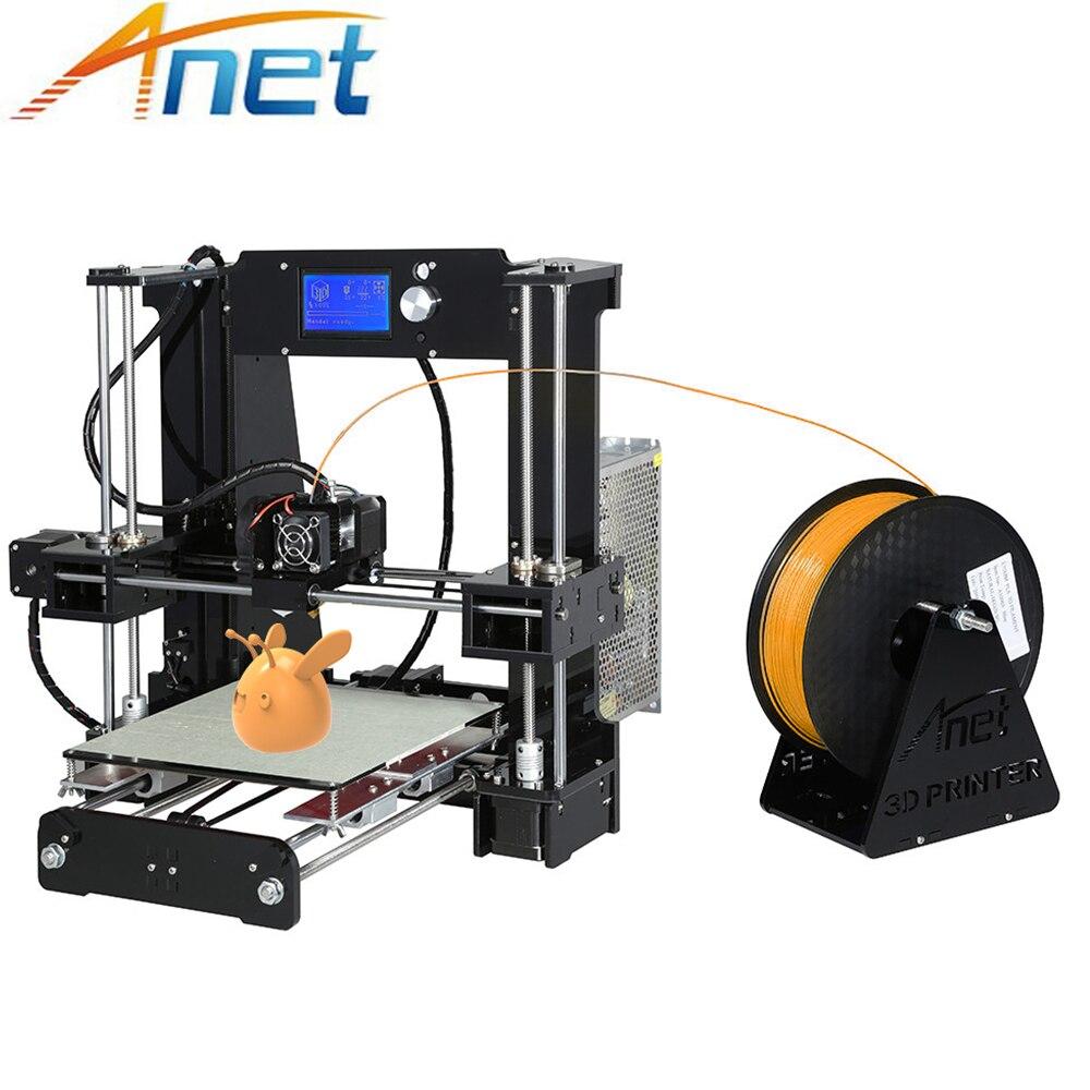 Barato Impressora de Anet A6 A8 3D Fácil Montagem de Alta Precisão de Impressora Reprap Prusa i3 3D Kit DIY com Filamentos de PLA 10m 3D Drucker