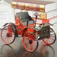Klasyczne Tinplate Handmade Starożytny Samochodów Kolekcja Wizytówką Retro Modele pracy Rzemieślniczej Rocznika Samochodu Miniatury i Figurki