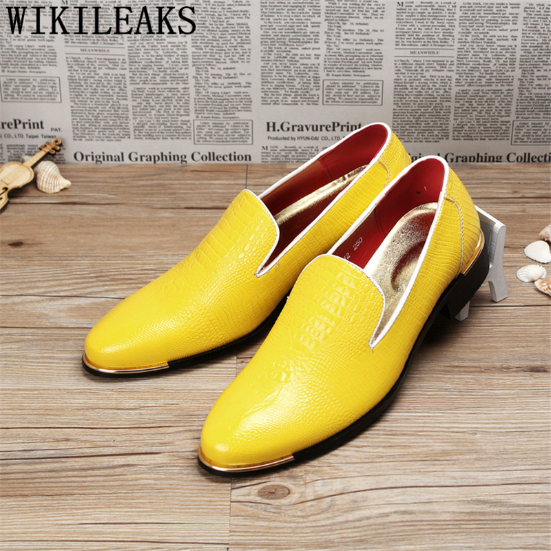 Oxfords Shoes For Men Formal Wedding Shoes Patent Leather Croco Office Dress Shoes Men Zapatos Hombre Casual sapato masculino 2016 new arrival top quality men s slip on basic oxfords real cowhide leather formal wedding dress shoes men sapato masculino 46