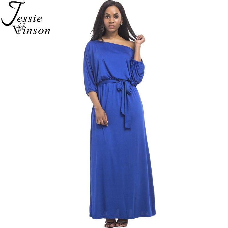 Fashion Women Half Lantern Sleeve Maxi Dress Slash Neck Solid Color Long Dress Engagement Evening Party Floor Length Dress