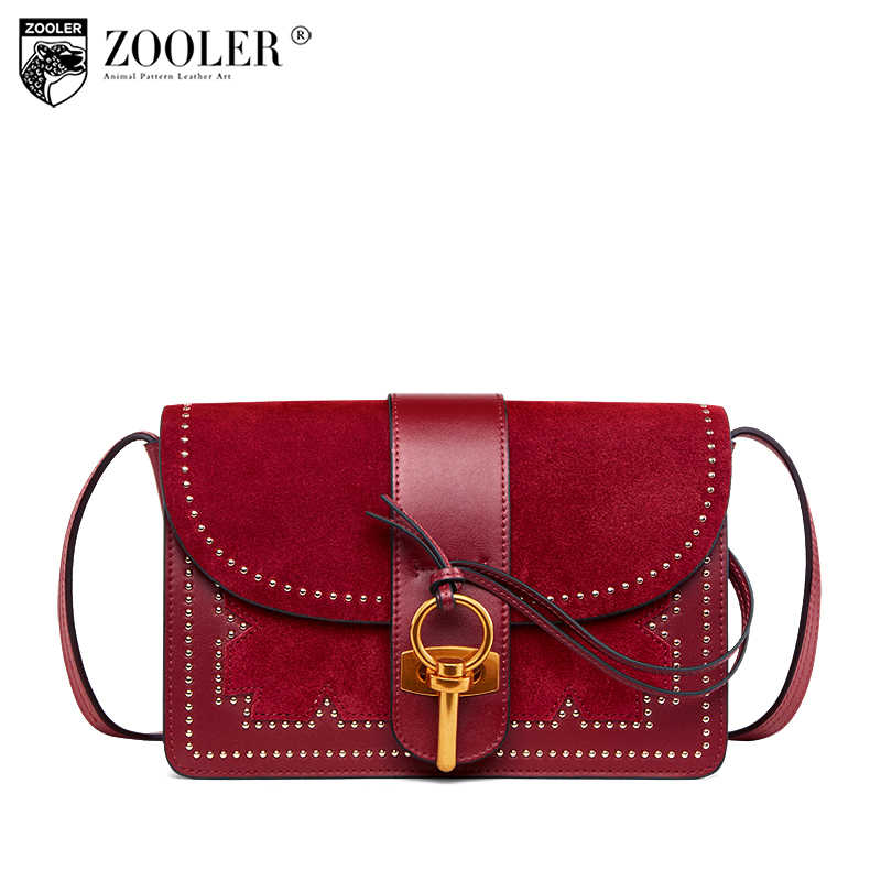Brand High Quality Genuine Leather Bag ZOOLER woman Shoulder Bag Luxury  Designer bags bolsos mujer de 2f849ff0a7dbd