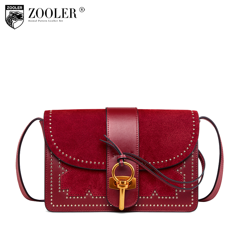 2018 ZOOLER Brand High Quality Genuine Leather Women Bag Shoulder Bag Luxury Handbags cross body Bag hot Designer Purse W118 2016 new fashion cross body bag genuine leather brand handbag soft shoulder bag designer chain high quality bag for women