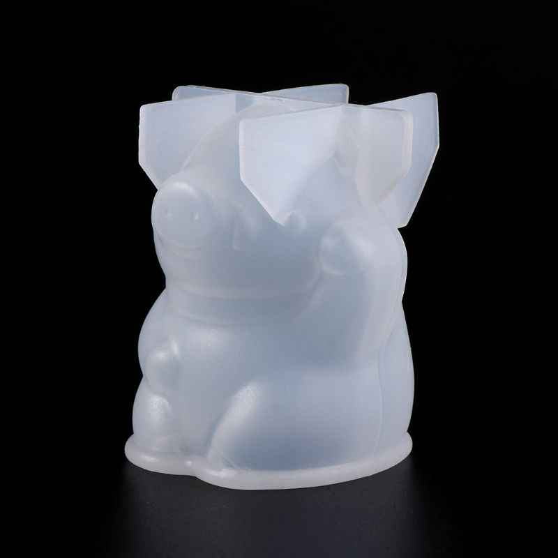 Espelho 3D Moldes DIY Jewelry Making Decoração Bolo de Molde de Silicone Fondant Resina Epóxi Artesanato Porco Bonito Do Urso Do Bebê Colar Pingen