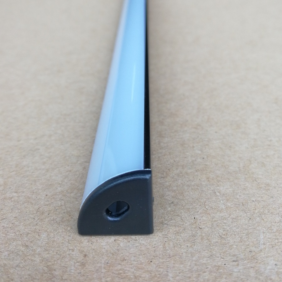 10pcs x 1000mm 3 3ft Black anodized Led aluminum channel profile with Black end caps for