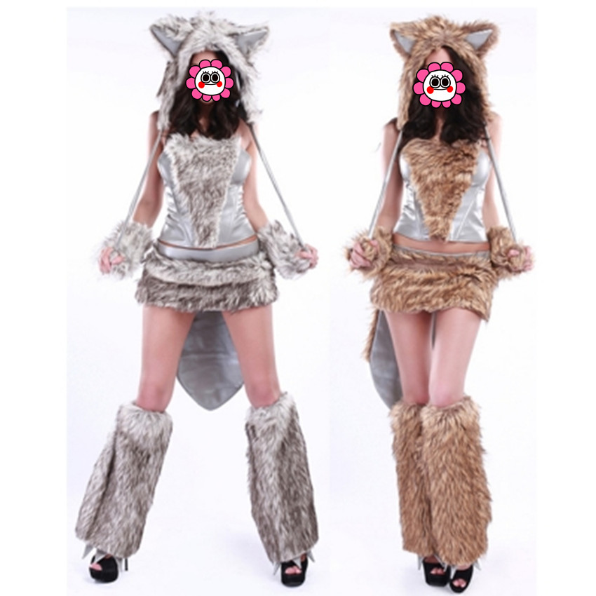 Abbille New Hot Sale Cat Women Wolf Cosplay Costumes For Halloween Dress Up Clothes -9858