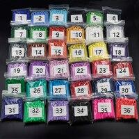36 Packs Dental Orthodontics Ligature Ties Elastic Rubber Bands Braces (36 Colors) Each Color One Pack