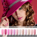 8ml Pink Color UV nail gel manicure professional lacquer home DIY nail art varnish polish Nontoxic Soak off fingernail polish