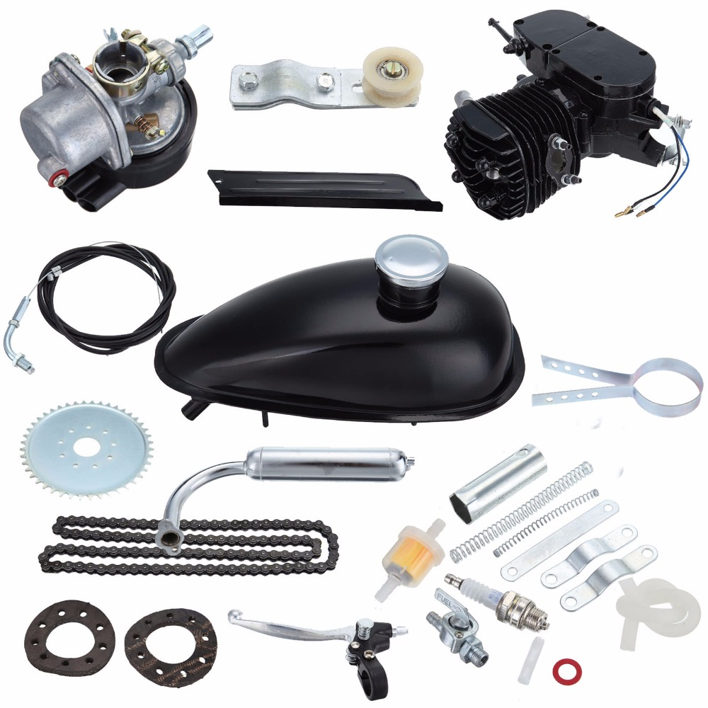 US Local Shipping! Bicycle 2 Stroke 50cc Petrol Gas Motorized Engine Bike Motor Kit Black DIY Cycle