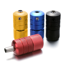 22x50mm/25x50mm Aluminum Alloy Tattoo Grips Tube with Back Stem Self-locked Tattoo Handle Machine Kit Gun Tattoo Accessories(China)