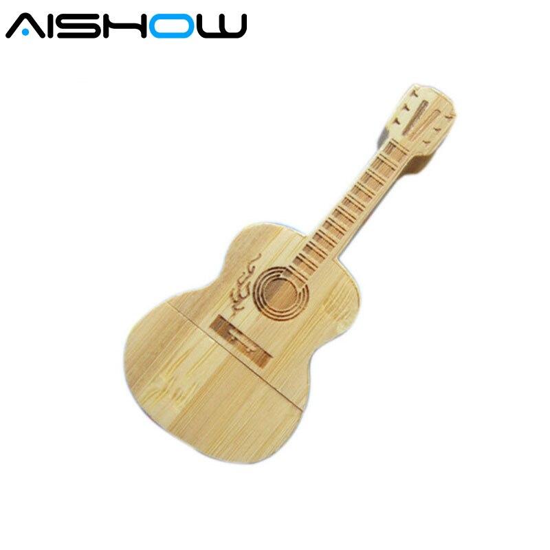 2016 usb כונן הבזק בצורת גיטרה כונן 4GB 8G 16GB 32GB 64 ג'יגה גיטרות עץ מודל זיכרון סטיק pendrive מתנה משלוח חינם
