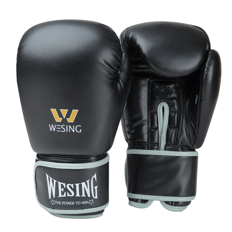 Wesing Boxing Gloves MMA Muay Thai Fight Glove luva de box Pro kick boxing gloves 8 10 12 14 16oz цена
