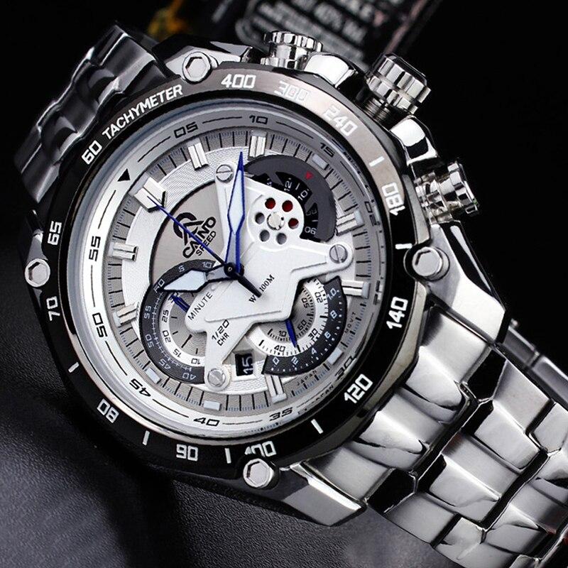 CAINO ผู้ชายแฟชั่นธุรกิจนาฬิกาข้อมือควอตซ์แบรนด์หรูสายคล้องคอกีฬากันน้ำนาฬิกาชาย Relogio Masculino-ใน นาฬิกาควอตซ์ จาก นาฬิกาข้อมือ บน   2