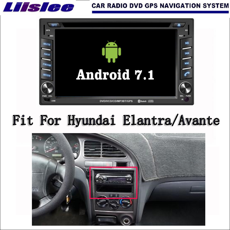 Liislee Android 7.1 2G RAM For Hyundai Elantra/Avante XD Car Radio Audio Video Multimedia DVD Player WIFI GPS Navi Navigation lsqstar st 9079c 7 android car dvd player w 1gb ram 8gb rom gps wi fi for hyundai elantra