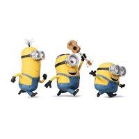 Hot sall Modern 3D Wall Sticker Small yellow people stickers 60*45cm Home Decor PVC poster wall stickers for kids rooms