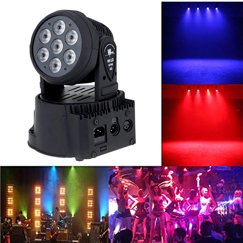 Rotating RGBW LED Stage Light Moving Head Beam Party Disco Light DMX-512 Led Dj Christmas Sound Active Stage Light Effect LampRotating RGBW LED Stage Light Moving Head Beam Party Disco Light DMX-512 Led Dj Christmas Sound Active Stage Light Effect Lamp