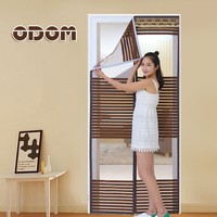 ODOM Hight Quality Summer Anti Mosquito Mesh Door Magnetic Mosquito Net Curtains Tulle Soft Screen Door