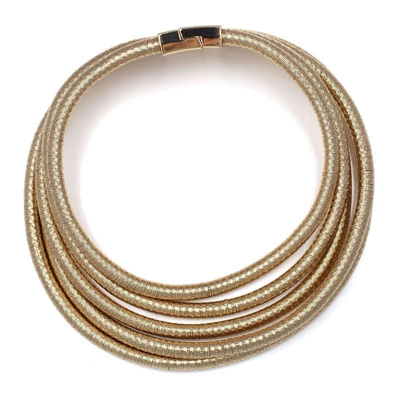 2017 NEW Arrival New Design Magnet Hook Yarn Chain Collar Necklace Fashion Trendy Statement Choker For Women   Kim Kardashian