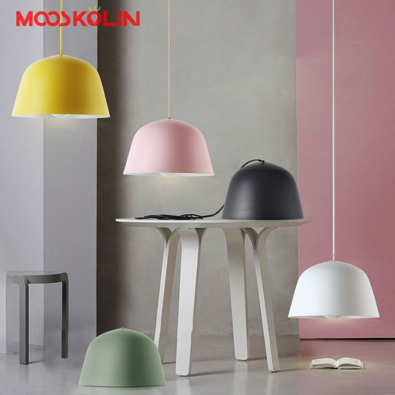 цена Nordic Scandinavian LED Pendant Lights Minimalism Aluminum E27 Pendant Lamp For Kitchen Bar Counter Restaurant Hanging Lighting
