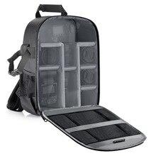 Neewer сумка для камеры водонепроницаемый противоударный разделительный рюкзак 11x6x14 дюймов с защитой для SLR/DSLR/беззеркального объектива камеры батарея