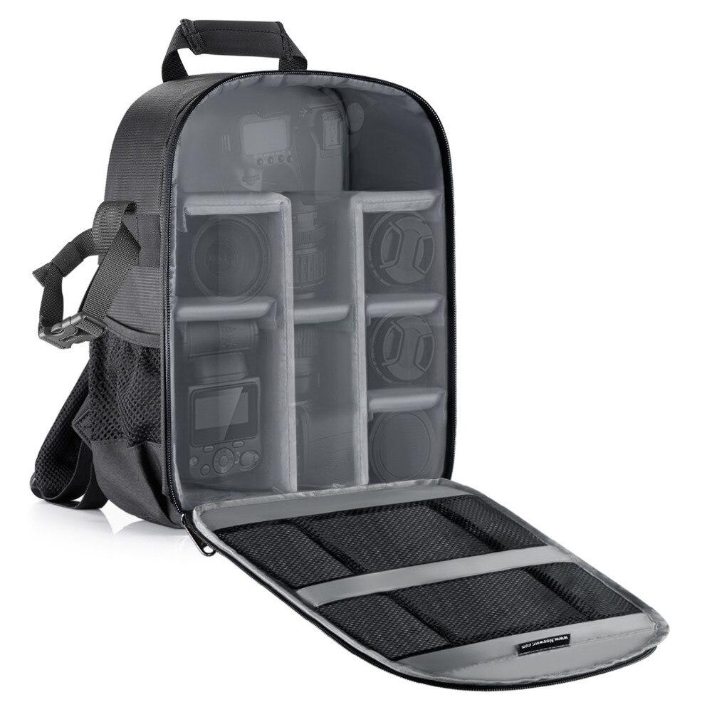 Bolsa de cámara Neewer impermeable a prueba de golpes partición 11x6x14 pulgadas mochila de protección para SLR/DSLR/cámara sin espejo lente batería
