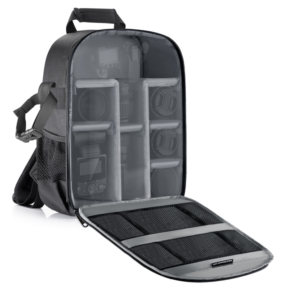 Neewer sac pour appareil photo étanche cloison antichoc 11x6x14 pouces sac à dos de Protection pour reflex/DSLR/batterie d'objectif d'appareil photo sans miroir