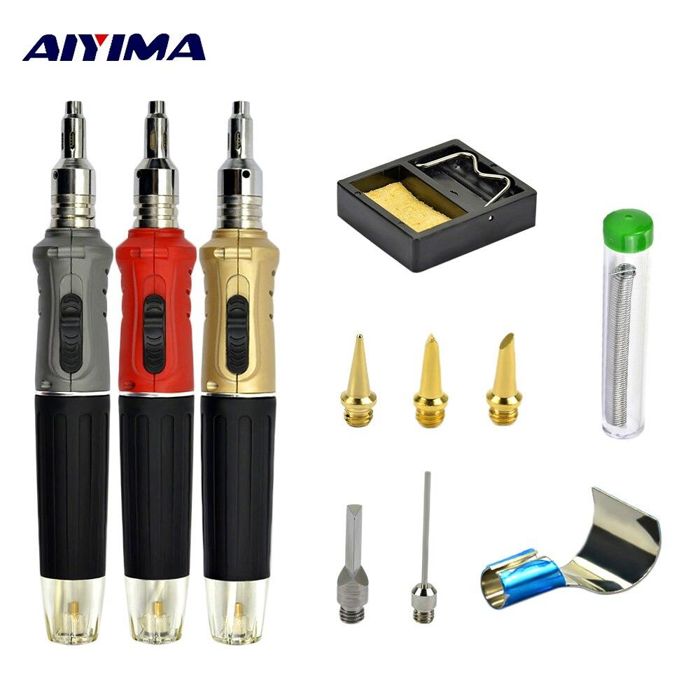 Gas Blow Torch Soldering Gun Refillable Butane Cordless Pen Tool Kit Solde NDH