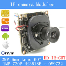 H.264 2MP 6mm lens IP Camera P2P Onvif IP Camera 720P HD CCTV Camera 1.0Mp Indoor Night Version Network IP Camera