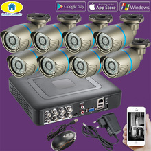 Golden Security 8CH CCTV System 720P HDMI AHD CCTV DVR 8PCS 1.0 MP IR Outdoor Security Camera 2000 TVL Camera Surveillance Kit цена в Москве и Питере