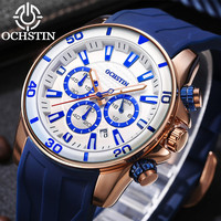 Ochstin esportes relógios masculinos marca de topo data automática silicone cinta quartzo militar relógio pulso masculino à prova dwaterproof água luminosa relogio saat