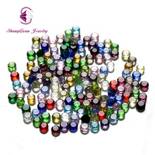 Mix Color 6mm 100pcs Button Austria faceted Crystal Glass Beads Loose Spacer Round Beads for Jewelry Making
