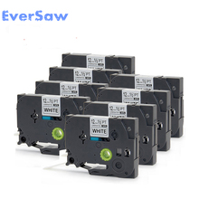 8 PACK TZe 231 Black on White Tape Compatible for Brother TZ PT-H105 PT550 PT1000 tz label tape brother tz e233