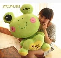 45cm Cute Cartoon Heart Frog Plush Doll Loving Heart Frog Holder Frog Cushion Animal Toy Figurine