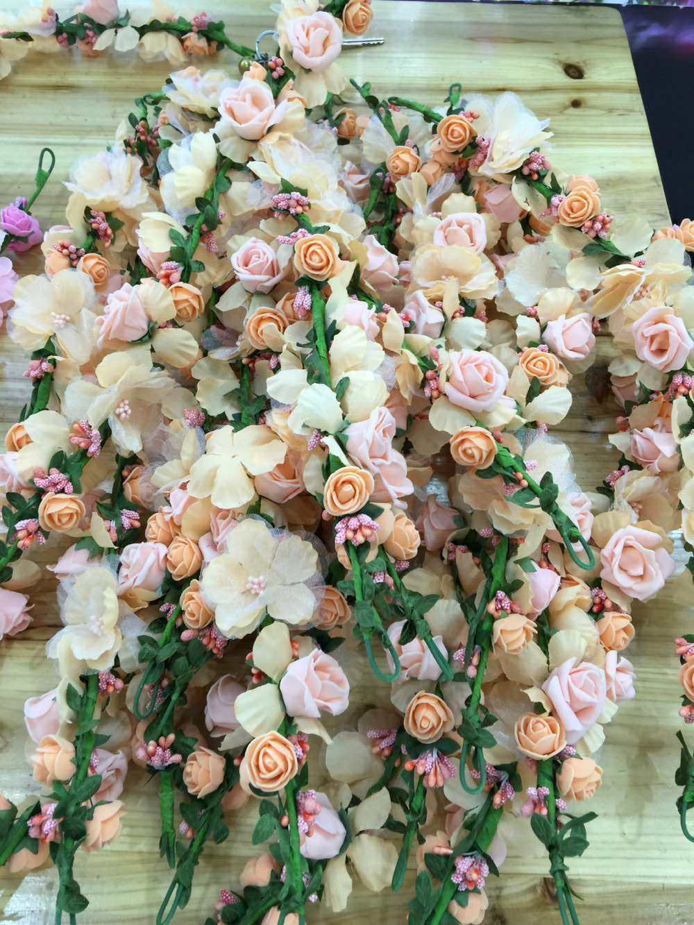 Beauty women bride flowers headbands bohemian style rose flower beauty women bride flowers headbands bohemian style rose flower crown hairband girls beach hair accessories in hair jewelry from jewelry accessories on izmirmasajfo